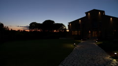Italy  - Tuscany Boutique Hotel at Sunset Stock Footage