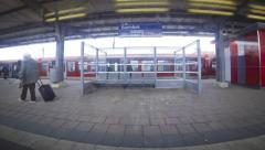 Hamburg city S-Bahn Railway Network, Germany (Time Lapse) Stock Footage