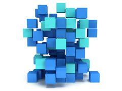 3D Cubes block. Assembling concept. - stock illustration