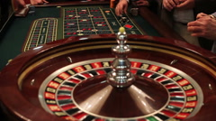 spinning ball in the roulette wheel - stock footage
