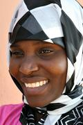 African Muslim woman - stock photo