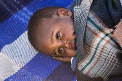 Sleepy  african child - stock photo