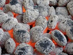 Charcoal briquettes Stock Photos