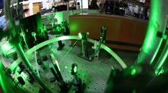 Demonstration of Qbits with lasers at the Time Resolved Spectroscopy Lab - stock footage