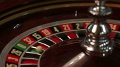 zero loss at Roulette in casino - stock footage