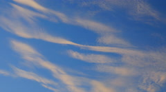 Floating in the sky cirrus clouds Stock Footage