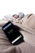 Cell Phone Alarm Clock Stock Photos