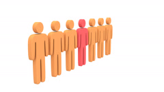 Group of stylized people and teamleader animation. Stock Footage