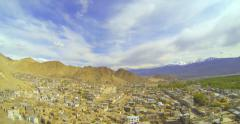 View of the Leh Palace from the roof Namgyal Stock Footage