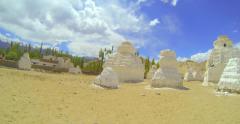 Panorama of ancient stupas around Lech Stock Footage