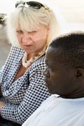 Interracial couple - stock photo