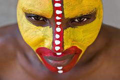 Tribal face - stock photo
