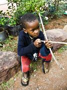 Stock Photo of Poverty African child