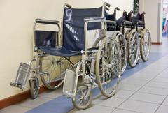 Hospital wheelchairs Stock Photos