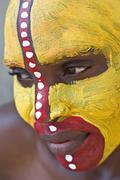 Tribal face - stock photo