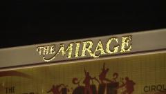Las Vegas Mirage Hotel Rack Focus Stock Footage