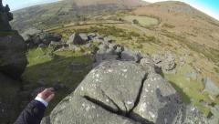 Rock Climbing, Free Running - 1st Person POV (Gopro) HD 03 Stock Footage