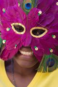 Young girl with mask Stock Photos