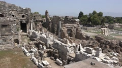 Theater of Dionysus, from Acropolis Hill wit Stock Footage
