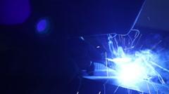 Worker is Welding Metal Detail Stock Footage