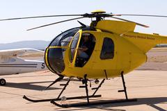Helicopter pilot Stock Photos
