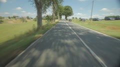 Driving on Road Rear View - stock footage