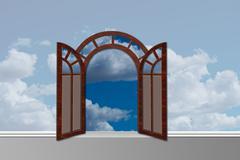 Doorway to Heaven. - stock illustration