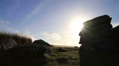 Beautiful Scenic Rocky Landscape on Dartmoor HD Stock Footage
