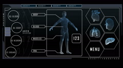 Medical technology motion graphics layout infographics research science body Arkistovideo