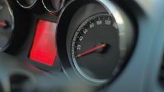 Cockpit Closeup Speedometer - stock footage