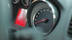Cockpit Closeup Speedometer Stock Footage