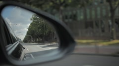 Rear View through Back Mirror Stock Footage