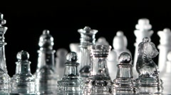 Chess pieces are swapped Stock Footage
