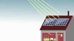 motion graphics infographics solar energy sun photovoltaic panel electricity - stock footage