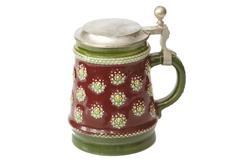 German beer jug - stock photo