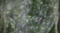 light gray silver bokeh, blur, new year, christmas texture motion video - stock footage