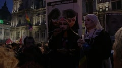 Anti-Homophobia, Gay Marriage Demonstration Stock Footage