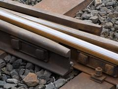 Detail from track - stock photo