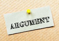 Argument message Stock Photos