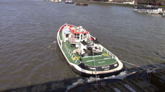 Barge on the Thames Stock Footage