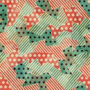 Vintage cloth geometric seamless texture Stock Illustration