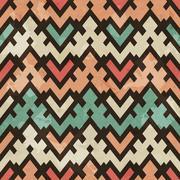 Vintage geometric seamless pattern Stock Illustration