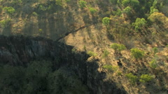 Aerial of African Plateau Stock Footage