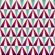 vintage triangle seamless pattern - stock illustration