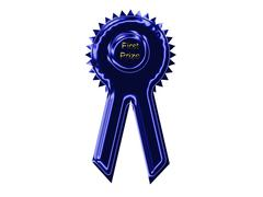 blue Ribbon - stock photo