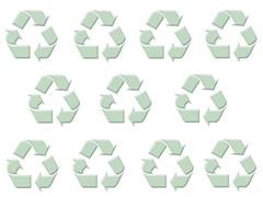 Recycling Symbol Background Stock Photos