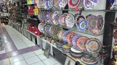 Souvenir shop in Turkey Stock Footage