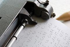 Stock Photo of Braille