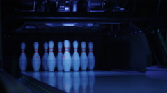 58 Ball are Hitting Bowling Skittles Stock Footage