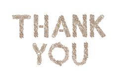 Thank You written with small cubes - stock photo
